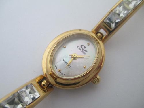 delicado e lindo relógio de pulso - feminino - cenere