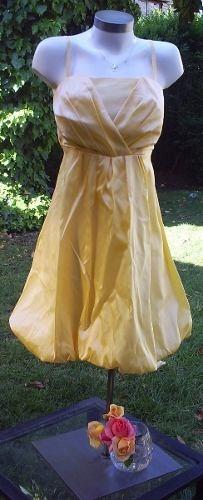 delicado vestido amarillo importado