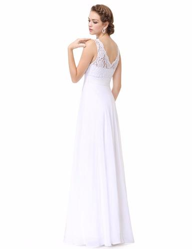 delicado vestido de novia-fiesta- egreso blanco m