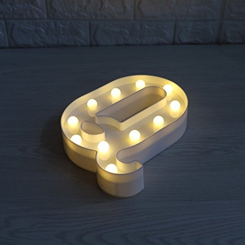 delicore led luces letras mayusculas decorativas blancas