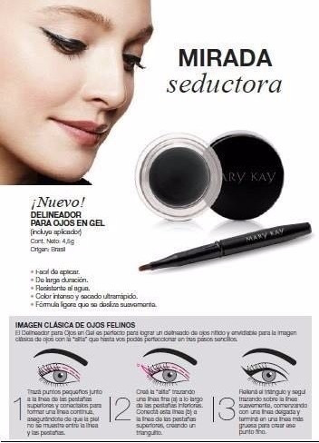 delineador en gel mary kay, nuevo, exclusivo