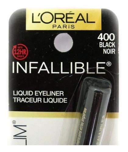 delineador loreal infalível cor: 400 / black infallible