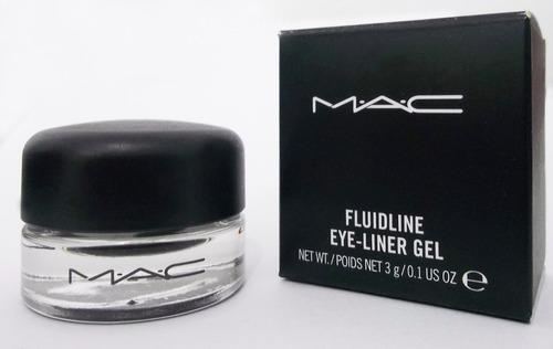 delineador ojos en gel negro mac pincel aplicador - ifans