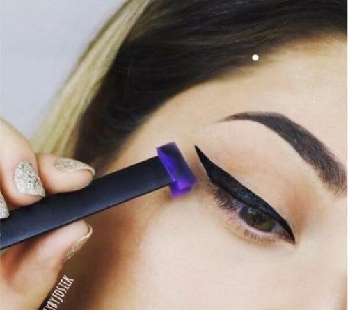 Delineador Vamp Stamp Maquillaje Ojos De Gato Pincel Broch S 59