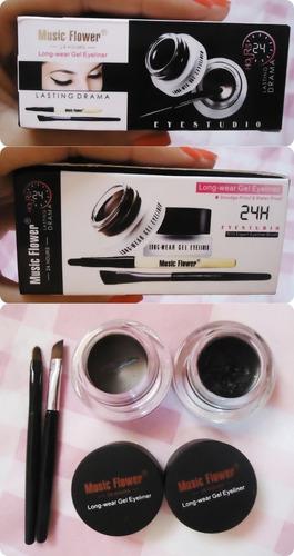 delineadores duo gel waterproof importado profesional makeup