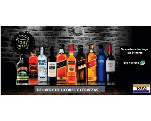 delivery 24horas licores/cervezas-s miguel/mag/bella/perla