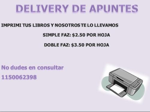 delivery de apuntes