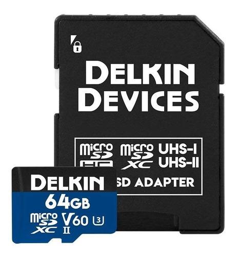 delkin devices 64gb prime microsdxc uhs ii (u3 v60)