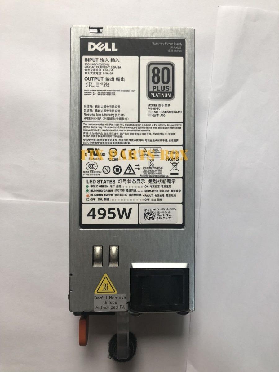 Dell 3ghw3 495 Watt Power Supply For Poweredge R420 R620 R72