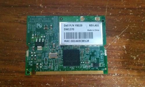 dell dw1370 wireless 802.11b / g mini-pci card y8029