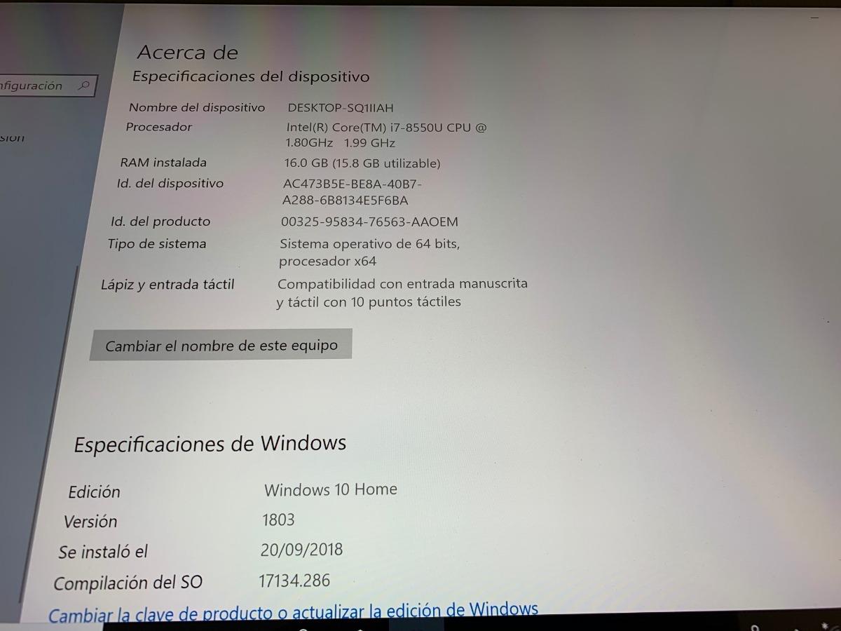 Dell Inspiron Gamer 2 En 1 7573 I7-8550u 16gb 4k 15 6 Nvidia - $ 21,999 00