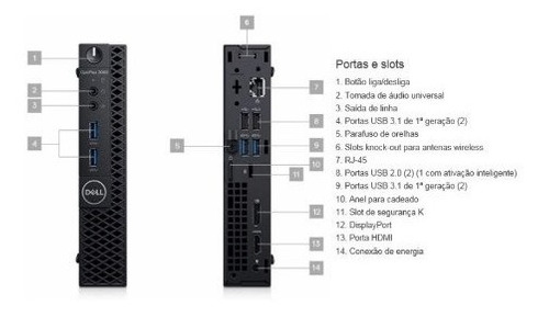 dell optiplex 3060m i7-8ª. ger. 8gb ram hd 500gb