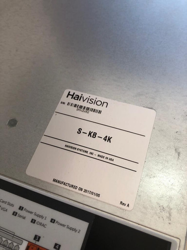 dell poweredge r630 xeon 2 e5-2690 haivision media gateway
