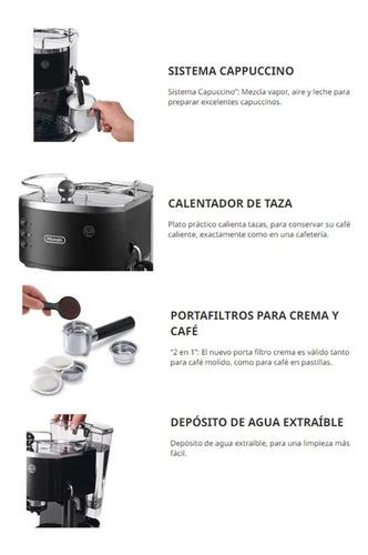 delonghi cafetera icona classic - negro eco311.bk