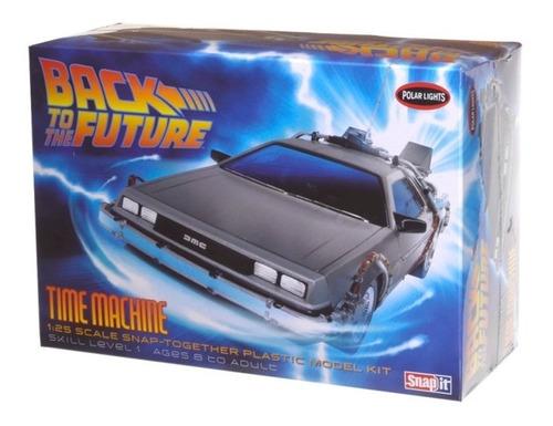 delorean back to the future car snap [1:25] polar lights pol