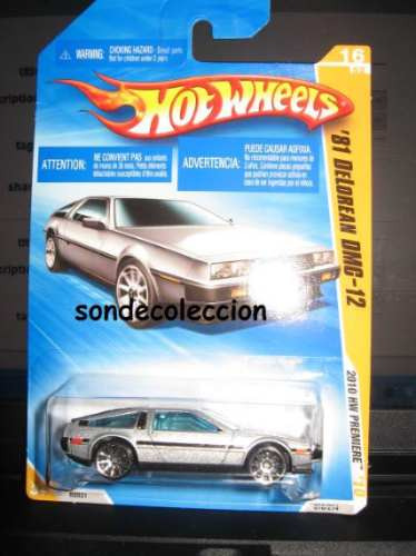 delorean hot wheels escala 1:64 nuevo y sellado
