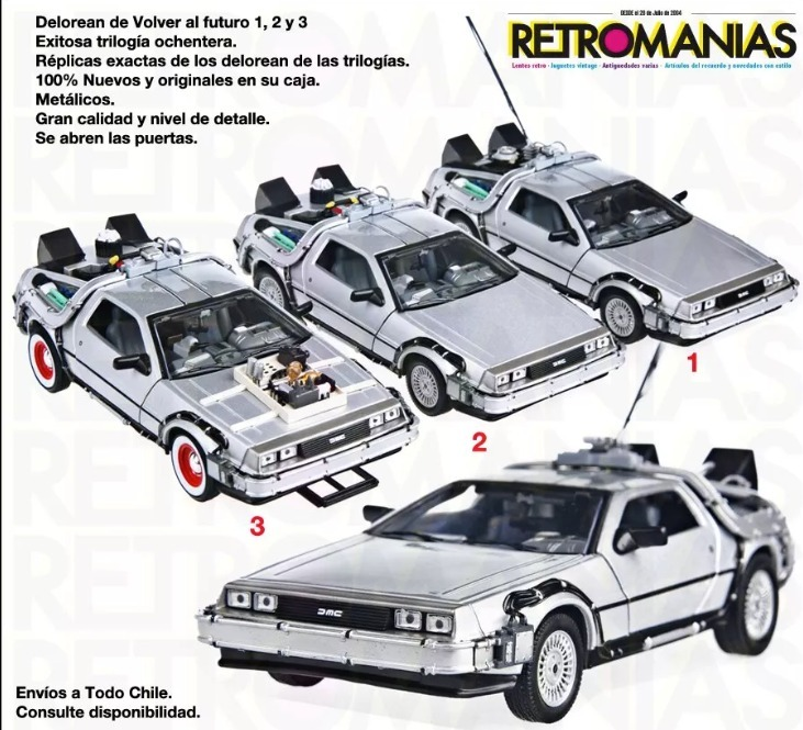 Delorean Original Volver Al Futuro Back To The Future
