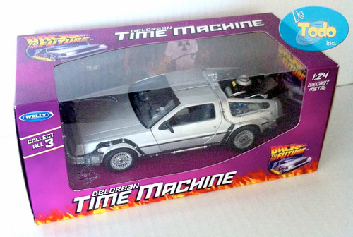 delorean time machine back to the future 1 - welly - 1:24