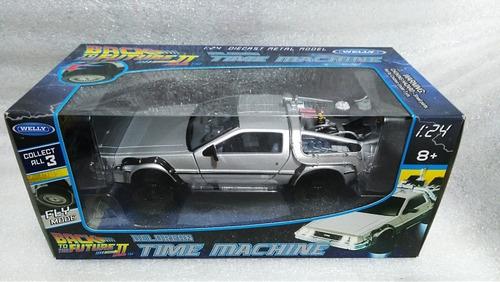 delorean volver al futuro,time machine 2 escala 1/24 metal.
