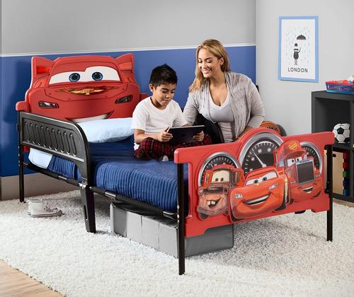 delta 3d-footboard cars rayo mcqueen cama plastico niño