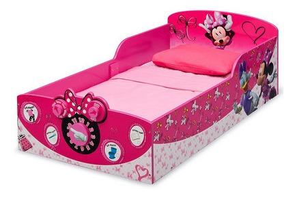 delta children interactive wood toddler bed, disney minnie