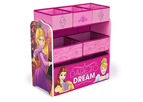 delta children multibin disney princess toy organizador