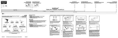 delta grifo 79225- ss addison doble estante bar toalla doble