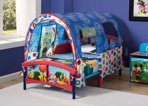 delta mickey mouse tent bed cama niño de plástico con carpa