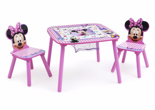 delta minnie mouse table storage escritorio mesa niñas w