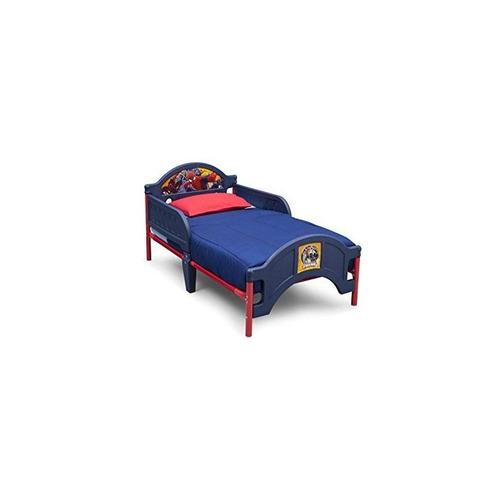 delta niños cama de plástico para niños pequeños, marvel spi