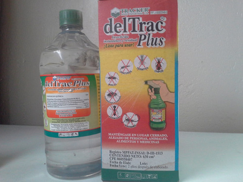 deltrac plus 630ml con atomizador chiripas, termitas y mas!!
