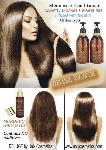 deluge - aceite de argán marroquí - para cabello, cuerpo