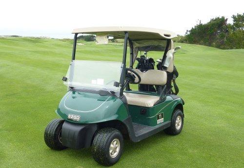 deluxe 2 passenger golf cart cover en taupe, techo de hasta