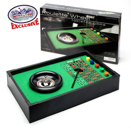 deluxe table parte superior rueda de ruleta con 50fichas