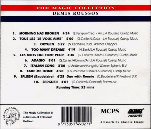 demis roussos    the magic collection   cd  nuevo y sellado