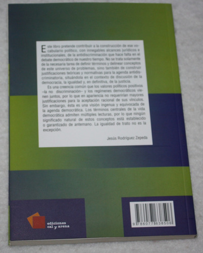 democracia, educación y no discriminación. libro