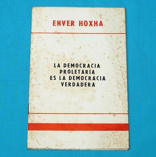 democracia proletaria es la democracia verdadera enver hoxha