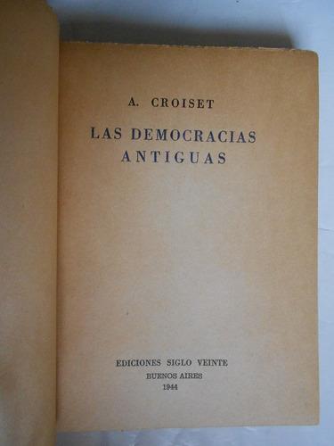 democracias antiguas, croisset, libro antiguo política