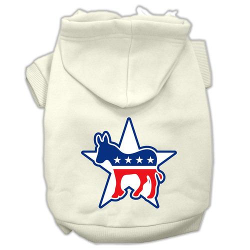 democrat pantalla impresión pet hoodies tamaño crema sm (10)