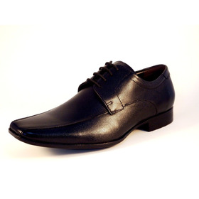 c2ba7674a Sapato Masculino Em Couro Preto C/ Prata Ref: 32a - R$ 289,90 em ...