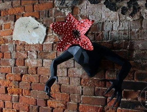 demogorgon  stranger things  escultura digital