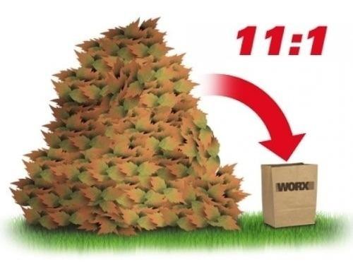 demoledor organico composta triturador hojas worx wg430 msi