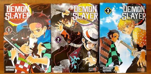 demon slayer - tomo 1 al 3 - kimetsu no yaiba - manga ivrea