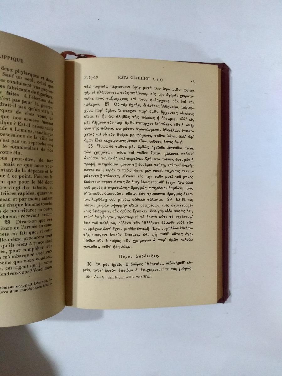 Demóstenes Harangues Les Belles Lettres Francés Griego 68900