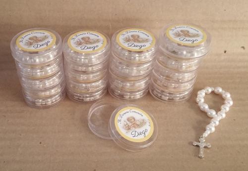 denario + cajitas acrilicas 4.5 x 1.5 cm personalizadas