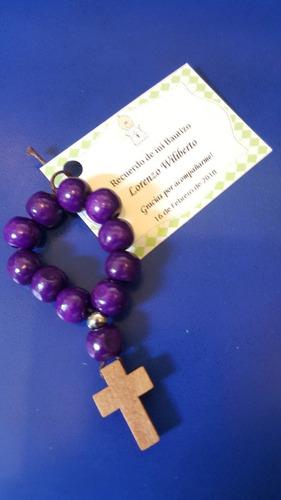 denario souvenir recuerdo bautizo, confirmacion + tarjetita