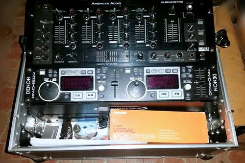 denon dj dn4500 cdplayer case mezclador kareok audífonos etc