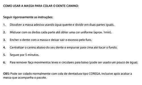 dentes de vampiro canino - presa postiça realista cosplay