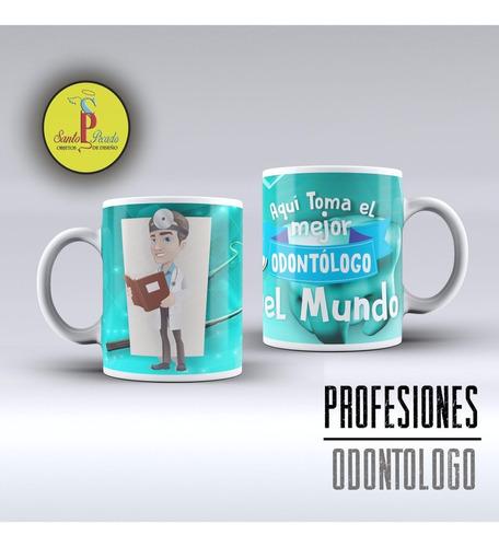 dentista taza de porcelana importada odontologa odontologo