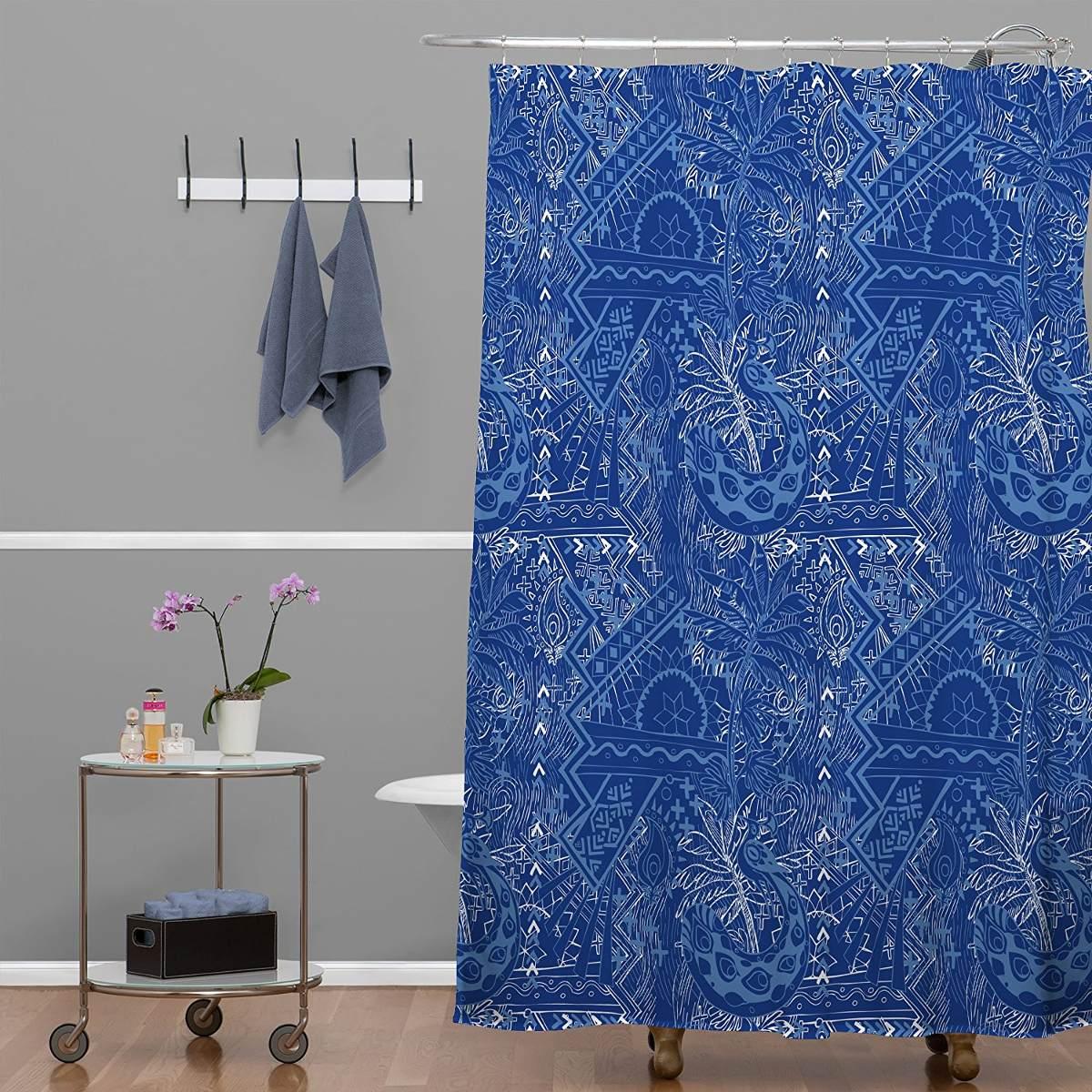 Deny Designs Geronimo Studio Blue Bombay Shower Curtain 69